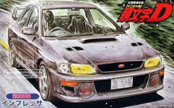 후지미[이니셜D][18]1/24 Subaru Impreza WRX type R STi Version V GC8 후지와라 분타 사양